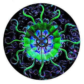 Arte Acryllic moderno de la clase de la yoga de la Reloj De Pared