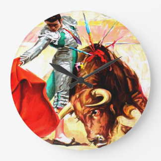 Arte Acryllic moderno del poster de la lucha de Bu Relojes De Pared