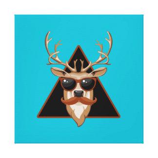 Arte adaptable de los ciervos del bigote del impresiones en lona estiradas