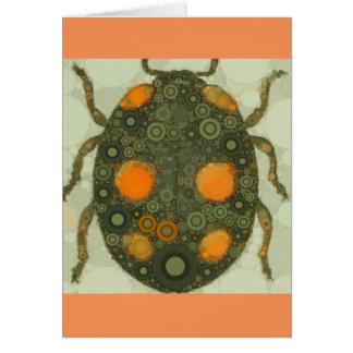 Arte adaptable en blanco del insecto del tarjeta de felicitación