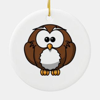 Arte adorable del dibujo animado del búho adornos de navidad