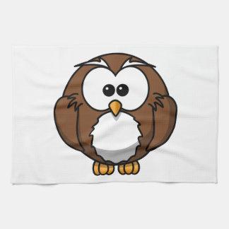 Arte adorable del dibujo animado del búho toallas de mano