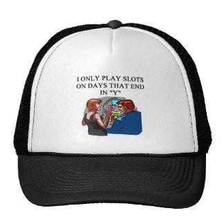 arte afortunado de los jugadores de la ranura gorros bordados