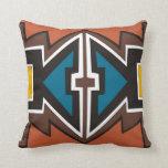 Arte africano abstracto colorido almohada