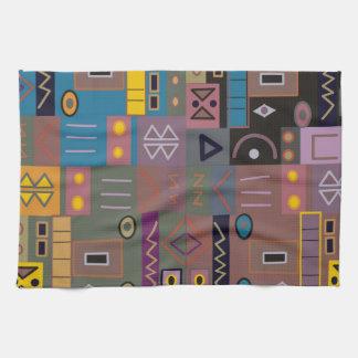 Arte africano abstracto colorido toallas