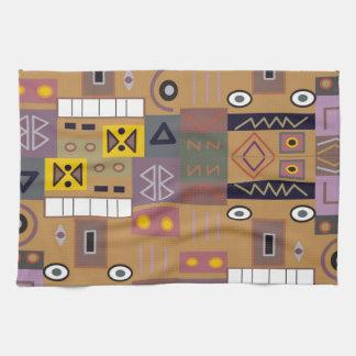 Arte africano abstracto colorido toallas de mano