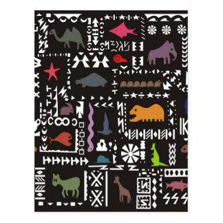 Arte africano abstracto colorido tarjetas postales