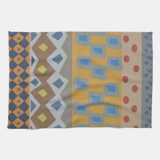 Arte africano abstracto colorido toalla de cocina