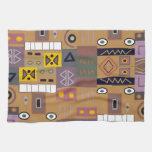 Arte africano abstracto colorido toallas de cocina