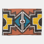 Arte africano abstracto de Brown Toalla De Mano