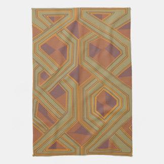 Arte africano abstracto de Brown Toallas De Cocina