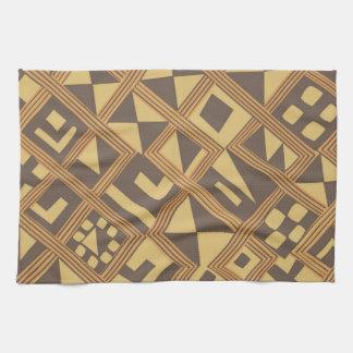 Arte africano abstracto de Brown Toallas De Mano