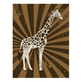 Arte africano de la original de la jirafa postales