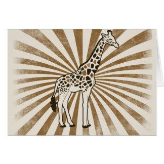 Arte africano de la original de la jirafa tarjeta