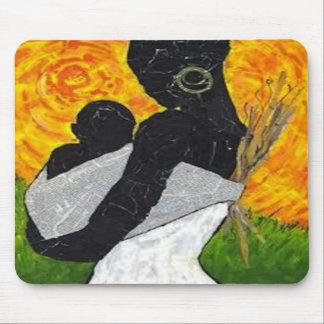 Arte africano Mousepad de la madre y del niño Tapetes De Ratón