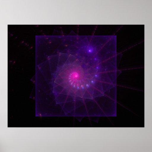 """Arte ajustado """"rosa"""" del fractal impresiones"""