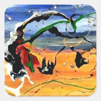 Arte al sudoeste - arte y diseño de CricketDiane Pegatina Cuadrada