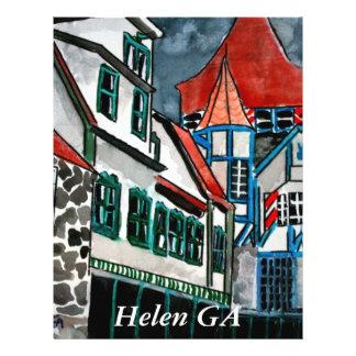 """Arte alemán de Georgia de la ciudad del paraíso de Folleto 8.5"""" X 11"""""""