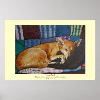 arte alemán lindo del retrato del mascota de la cr poster