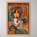 Arte Alfons Mucha Mónaco Monte Carlo del vintage d Posters