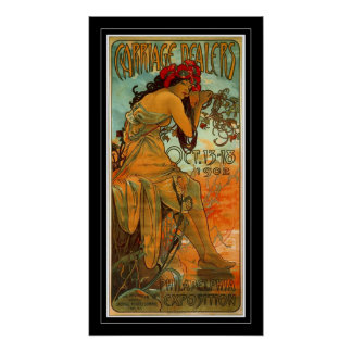 Arte Alfonso Mucha del vintage del poster