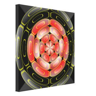 Arte algorítmico semitransparente impresiones de lienzo