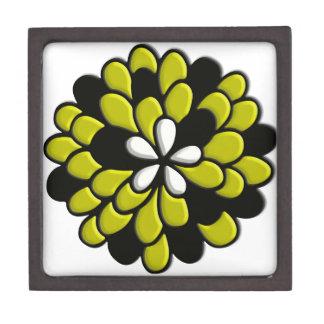 Arte amarillo de Digitaces de la flor del vitral Caja De Joyas De Calidad