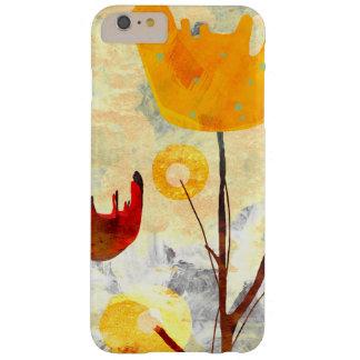 Arte amarillo de la acuarela del tulipán funda de iPhone 6 plus barely there