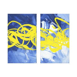 Arte amarillo de la lona del duelo de la decoració