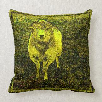 Arte amarillo de la original del estilo del cojin
