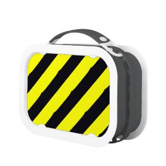 Arte amarillo de las rayas negras en la caja del a
