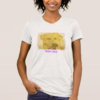 arte amarillo del laboratorio (roca de los laborat camiseta