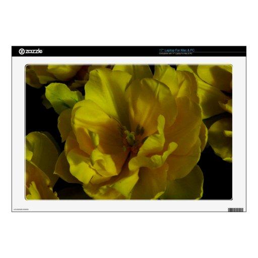 Arte amarillo del tulipán portátil skins