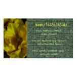Arte amarillo del tulipán plantilla de tarjeta de negocio