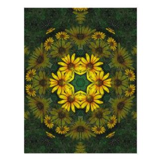 """Arte amarillo grande 10 del caleidoscopio del Wild Folleto 8.5"""" X 11"""""""