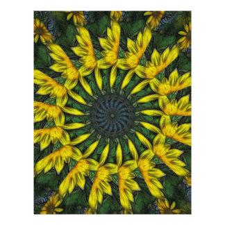 """Arte amarillo grande 12 del caleidoscopio del Wild Folleto 8.5"""" X 11"""""""