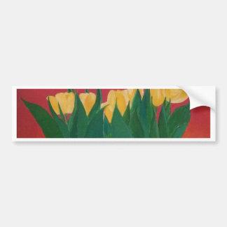 Arte amarillo grande de la original de los tulipan pegatina para auto