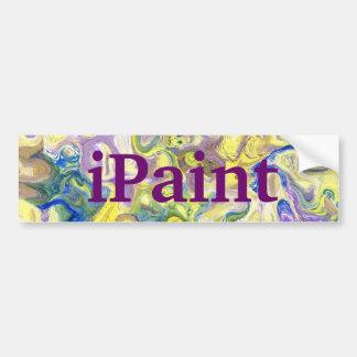 arte amarillo púrpura de la pegatina para el parac etiqueta de parachoque