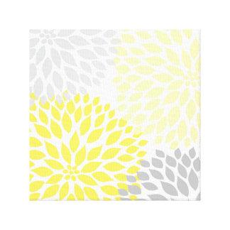 Arte amarillo y gris de la pared del cuadrado de l impresiones en lona estiradas