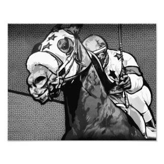 Arte americano de la carrera de caballos cojinete