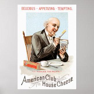 Arte americano del anuncio de la comida del vintag póster