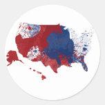 Arte americano del orgullo pegatina redonda