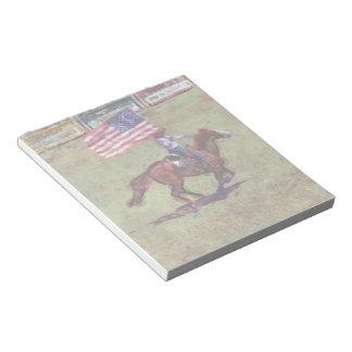 Arte americano del rodeo de la vaquera de la bloc de notas