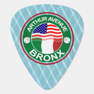 Arte americano italiano de la avenida Bronx de Art Púa De Guitarra