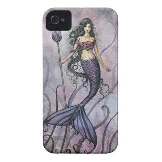 Arte Amethyst de la sirena de la fantasía del mar iPhone 4 Protectores