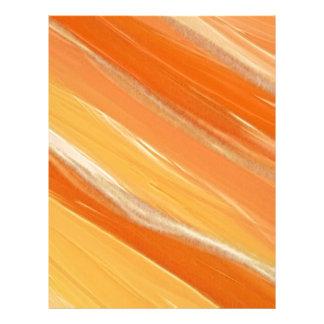 Arte anaranjado membrete