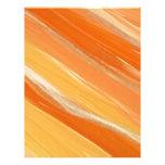 Arte anaranjado membrete personalizado