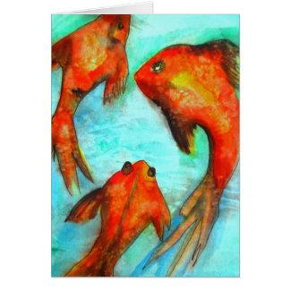 Arte anaranjado oriental de la original de la acua tarjetón