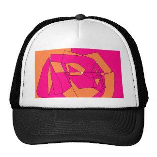 Arte anaranjado rosado de la pintura de Digitaces Gorro