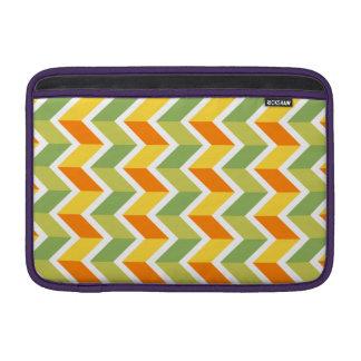Arte anaranjado verde del diseño del zigzag del funda macbook air